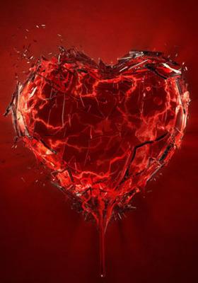 Shattered Heart Mobile Wallpaper