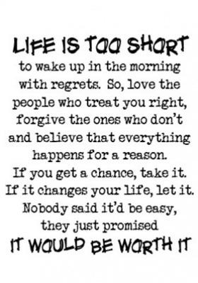 Life Is Too Short Mobile Wallpaper