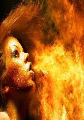 Fire Girl Mobile Wallpaper