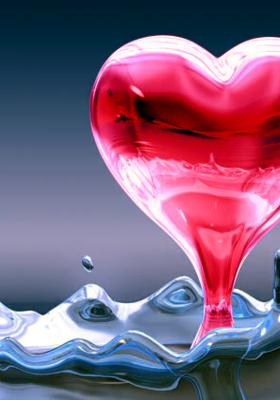 Magenta Heart Mobile Wallpaper
