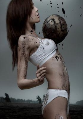 Girl Soccer Player Mobile Wallpaper