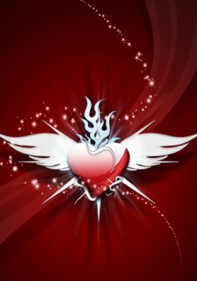 Winged Heart IPhone Wallpaper Mobile Wallpaper