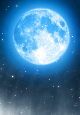 The Blue Moon Mobile Wallpaper