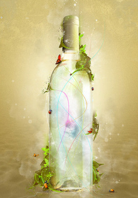 Abstract Bottle  Mobile Wallpaper