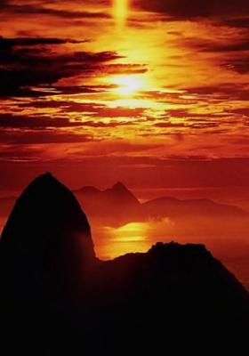 Mountain Sunset Mobile Wallpaper