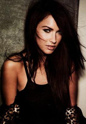 Megan Fox Dark Dress Mobile Wallpaper