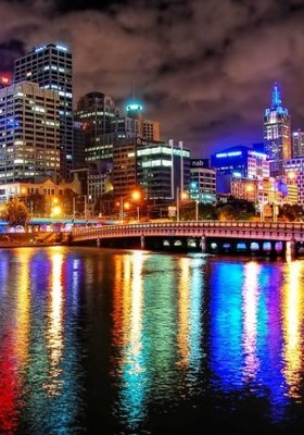 Melbourne Nights Of Colour Mobile Wallpaper