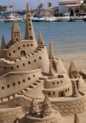 Sand Castles Mobile Wallpaper