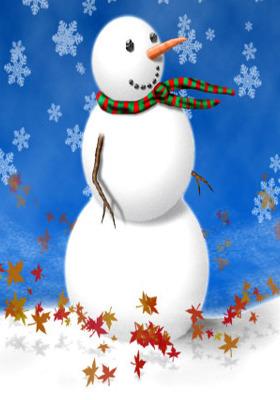 Snowman Mobile Wallpaper