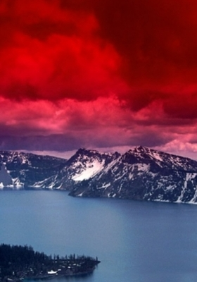 Scarlet Skies Mobile Wallpaper