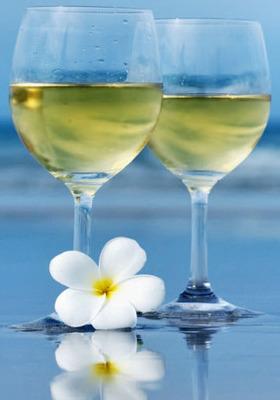 White Wine Beach Mobile Wallpaper