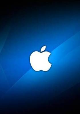 Apple Logo Blue Mobile Wallpaper