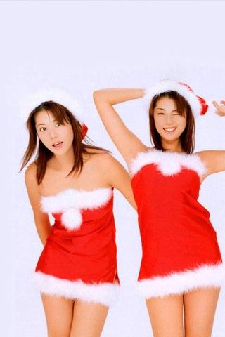 Christmas Girls Mobile Wallpaper