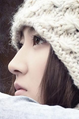 Girl Staring Mobile Wallpaper