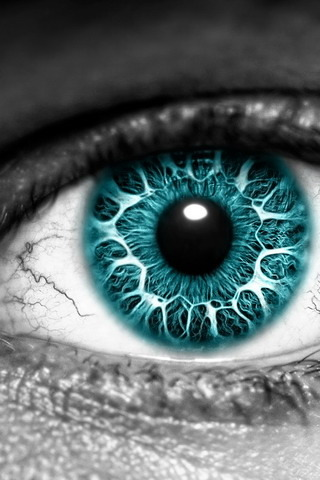 Blue 3D HD Eye IPhone Wallpaper Mobile Wallpaper