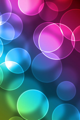 Abstract Circle Bokeh Mobile Wallpaper
