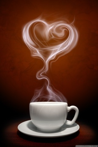 Love Coffee Beans IPhone Wallpaper Mobile Wallpaper