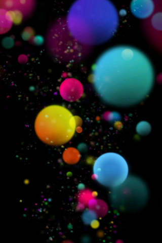 3D Color Globes IPhone Wallpaper Mobile Wallpaper