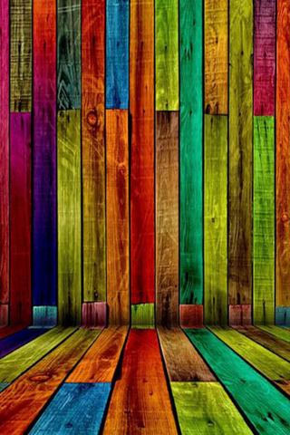 Colorful Wood Mobile Wallpaper