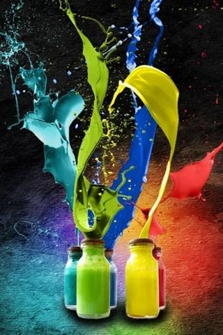 Color Splash From Bottles IPhone Wallpaper Mobile Wallpaper