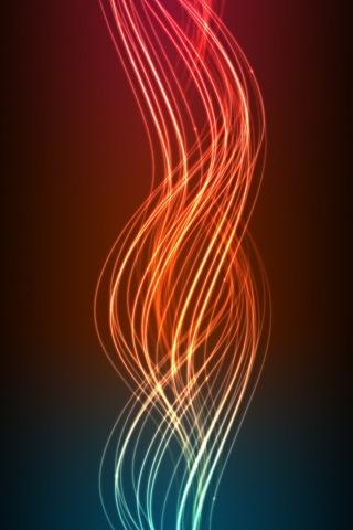 3D Digital Flame Lines IPhone Wallpaper Mobile Wallpaper