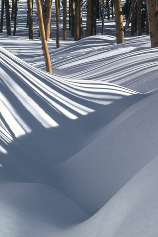 Shadow Striped Snow IPhone Wallpaper Mobile Wallpaper
