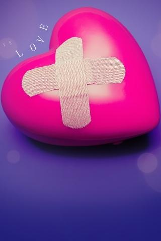 Injured Love Heart IPhone Wallpaper Mobile Wallpaper