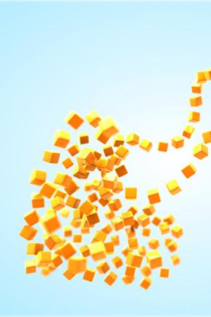 Heart Of Cubes IPhone Wallpaper Mobile Wallpaper