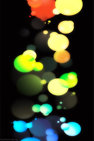 3D Colors Lights IPhone Wallpaper Mobile Wallpaper