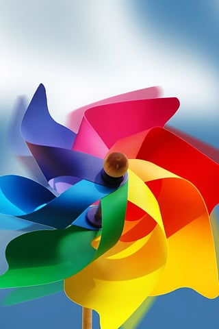 Rainbow 3D Fan IPhone Wallpaper Mobile Wallpaper