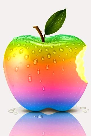 Rainbow 3D Apple IPhone Wallpaper Mobile Wallpaper