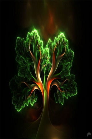 Digital Abstract Tree IPhone Wallpaper Mobile Wallpaper