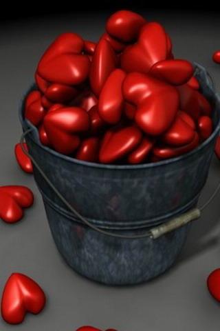 Bucket Of Hearts Mobile Wallpaper