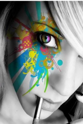 Paint Eye Girl IPhone Wallpaper Mobile Wallpaper