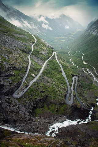 Trollstigen Road Rauma Norway IPhone Wallpaper Mobile Wallpaper