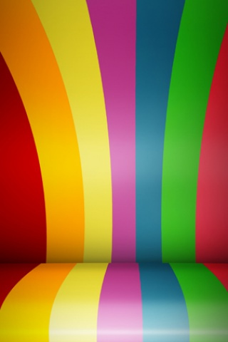 Rainbow Wood Roll IPhone Wallpaper Mobile Wallpaper