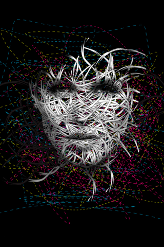 Digital Wire Face Girl IPhone Wallpaper Mobile Wallpaper