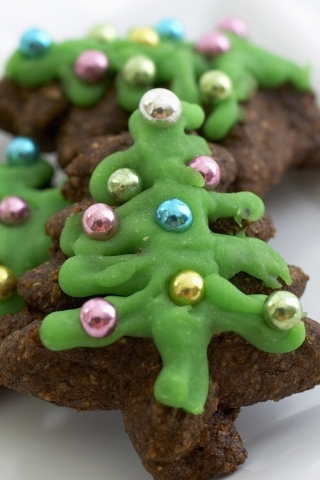 Christmas Biscuits Tree IPhone Wallpaper Mobile Wallpaper