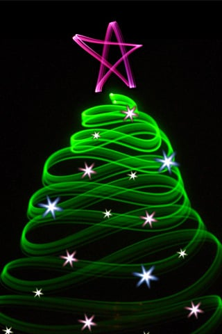 Christmas Green Tree IPhone Wallpaper Mobile Wallpaper