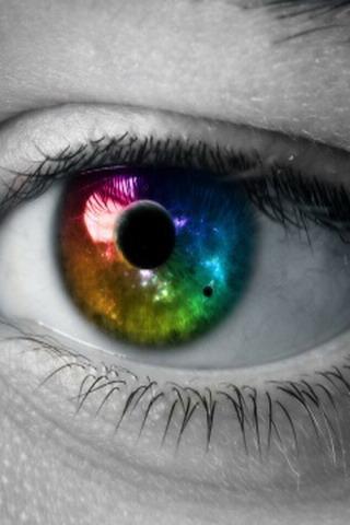 Colors 3D Eye IPhone Wallpaper Mobile Wallpaper