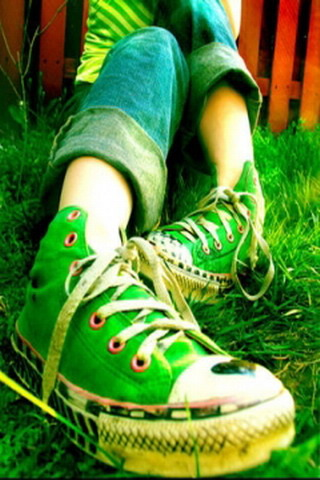 Green Converse IPhone Wallpaper Mobile Wallpaper