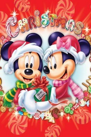 Christmas Mickey And Minnie IPhone Wallpaper Mobile Wallpaper