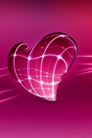 3D Heart IPhone Wallpaper Mobile Wallpaper