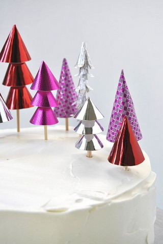 Christmas Forest Cake Topper IPhone Wallpaper Mobile Wallpaper