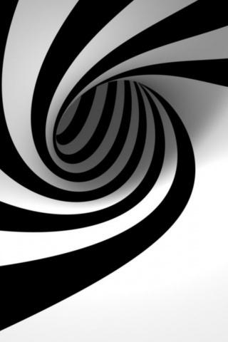 Whirlpool Black White IPhone Wallpaper Mobile Wallpaper
