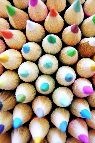 Pencil Crayons IPhone Wallpaper Mobile Wallpaper