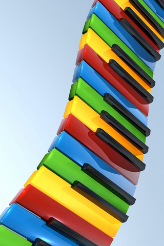 Rainbow Piano IPhone Wallpaper Mobile Wallpaper