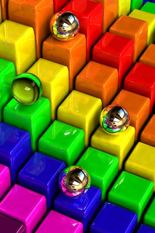 Rainbow Steps Balls IPhone Wallpaper Mobile Wallpaper