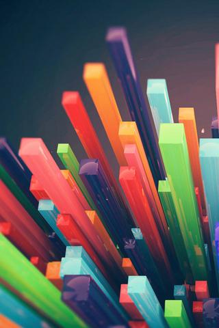 Colorful Sticks IPhone Wallpaper Mobile Wallpaper