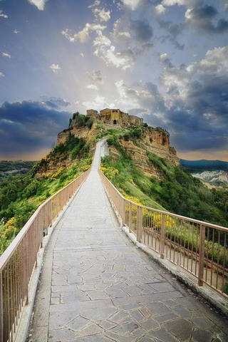 Civita Di Bagnoregio In Italy IPhone Wallpaper Mobile Wallpaper